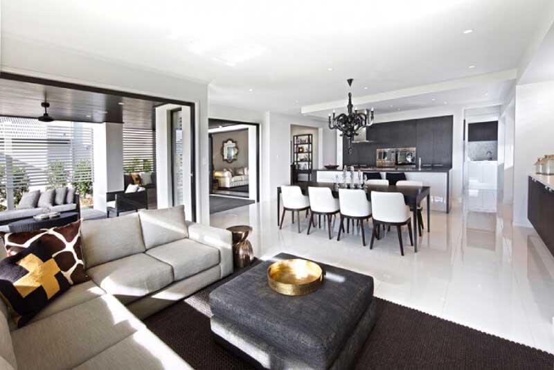 Phòng khách trông sẽ rộng hơn khi kết nối không gian với những khu vực khác.