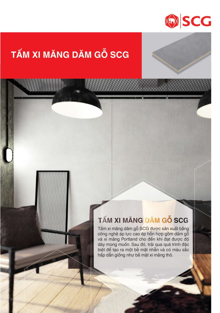 Tấm xi măng dăm gỗ SCG Cementboard